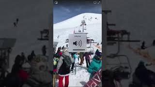 Ski lift accident in Georgia