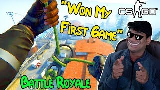 I Won My First Game In Cs Go Battle Royale ⭐⭐ | CSGO |