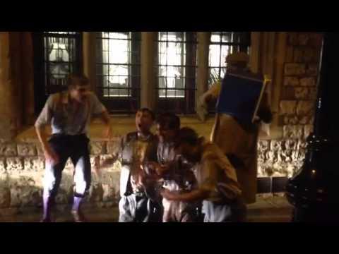 Ian McKellen helps The Handlebards do the ice bucket challenge