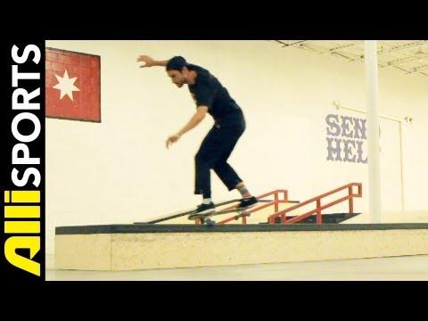 Steve Nesser Frontside Nosegrind SkateboardTrick Tip, Step By Step Alli Sports