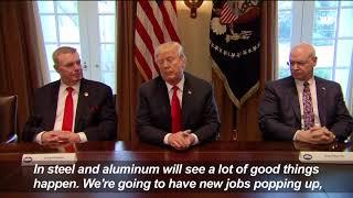 Trade war? Trump orders big tariffs on steel, aluminum