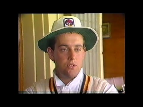 Teenage Darren Lehmann smashes 228, way back in 1989, 1st FC hundred, vs NSW. *RARE*