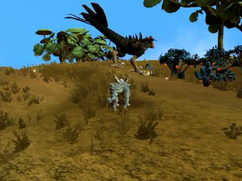 Spore epic dinosaur Deinonychus and Postosuchus