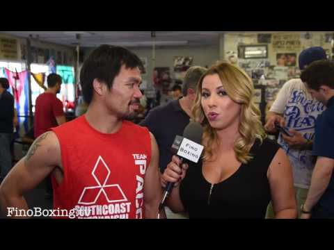 Manny Pacquiao on fighting Jessie Vargas & a possible fight versus Golovkin