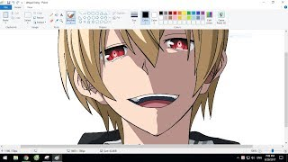 Tutorial: Draw an anime character on Microsoft Paint | King of Despair from Kekkai Sensen