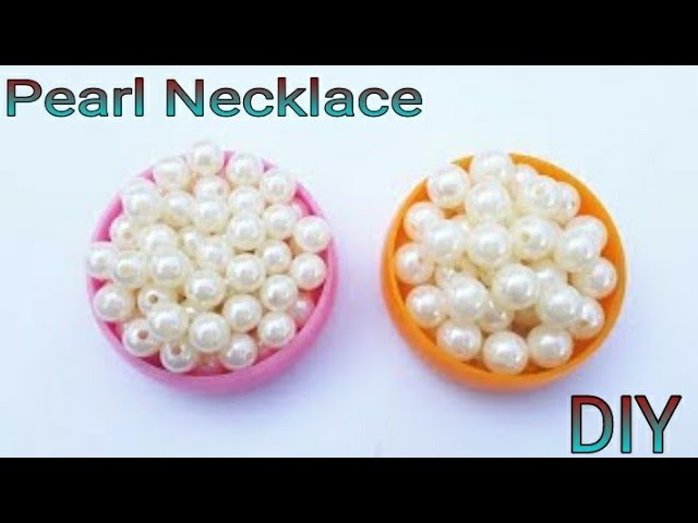DIY pearl necklace || How to make pearl necklace at home || pearl beading necklace tutorial ||
