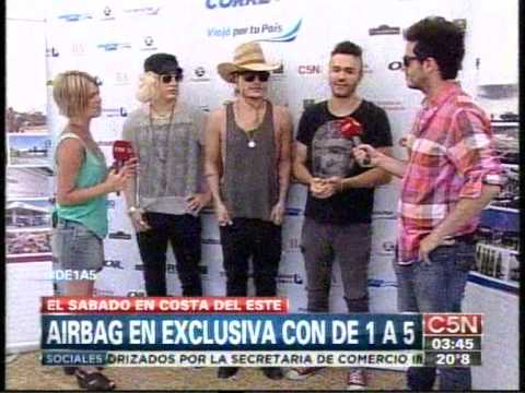 C5N - ARGENTINA CORRE: ENTREVISTA A AIRBAG EN COSTA DEL ESTE