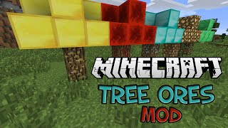 Minecraft: MONEY DOES GROW ON TREES! (Tree Ores Mod Showcase)