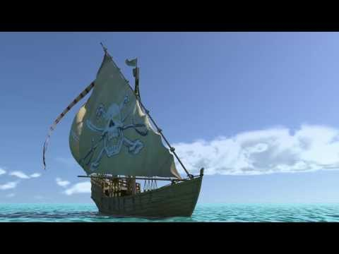 Maya Ncloth sail and animated ocean