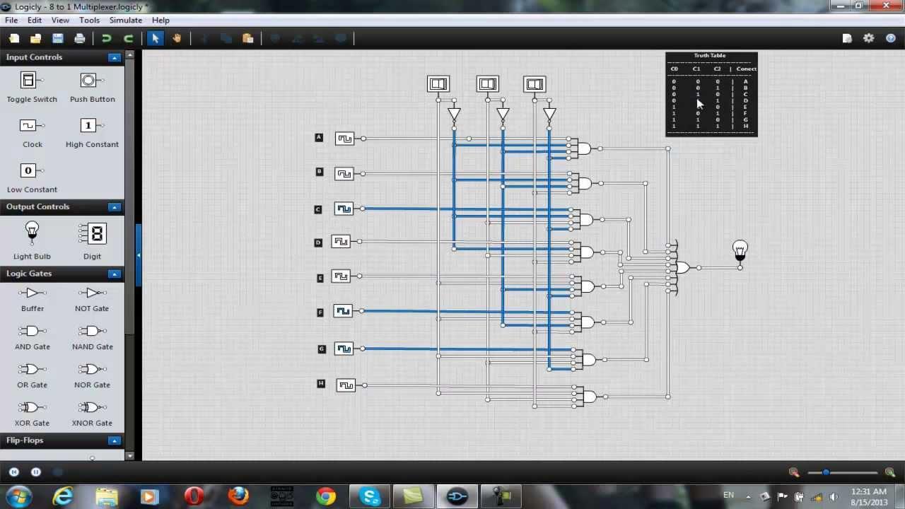 8 to 1 multiplexer