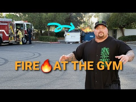 FIRE AT THE GYM - ROAD TO 600 BENCH PRESS