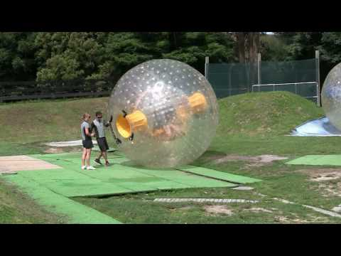 Extreme fun Zorbing (globe riding) in Rotorua, New Zealand - 1080p HD footage!