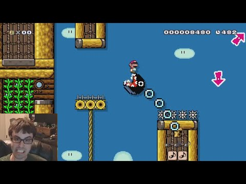 Mario Maker - Blind Kaizo Race #10 Windfall (Fun Level!)