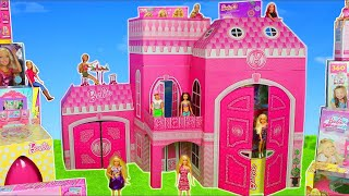 Barbie Dolls: Giant Dreamhouse Dollhouse w/ Toy Surprise & Camper Car   Doll Play for Kids