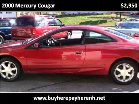 2000 Mercury Cougar Used Cars Hooksett NH
