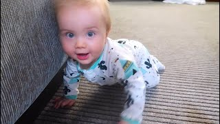 MY BABY LEARNED TO CRAWL! - Bus Tour Part 1