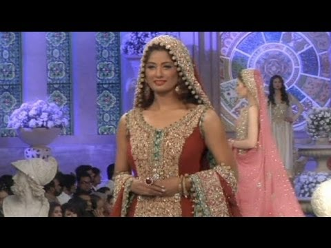 tendances robe de mariée pakistanais 2013