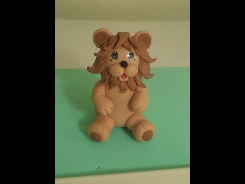 Leão (Safári) -  Aula de Biscuit