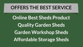 [iSheds Provides a Wide Range of Outdoor Garden Sheds] Video