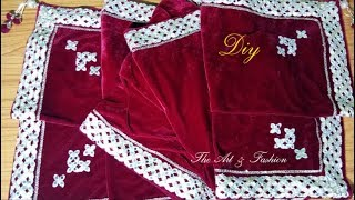 Make beautiful designer dupatta, stol with lace, latkan and patch for beginners step by step