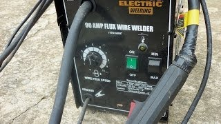 HARBOUR FREIGHT 90 amp flux welder wire feed slipping  fix