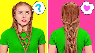 COOL HAIR HACKS TO LOOK GORGEOUS IN ANY SITUATION || Hair Hacks And Tips Every Girls Should Know