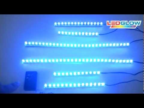6pc Blue LED Flexible Motorcycle Lights