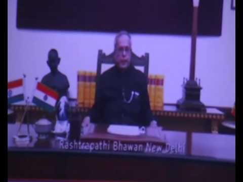 India President Rashtrapati Pranab Mukherjee Online Conference with Central Universities Students