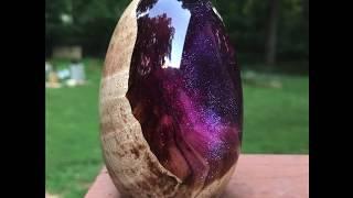 Making a Wood and Resin Galaxy Dragon Egg