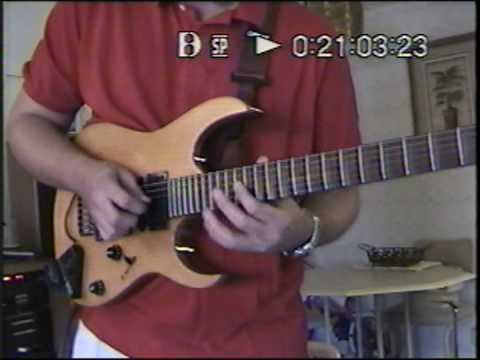Marshall H jamming in Florida at Derryl Gabel's with Derryl's guitar (Aug 2000)