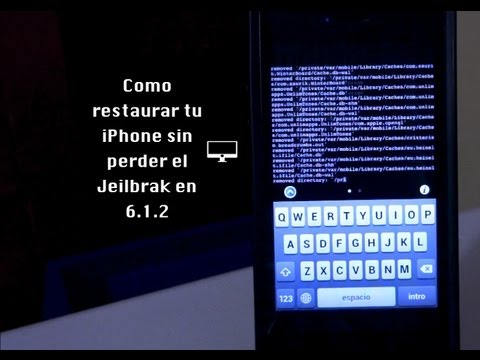Como restaurar tu iPhone sin perder el Jailbreak en la version 6.1.2
