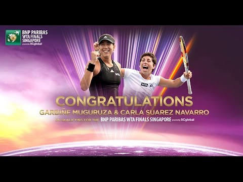 Garbine Muguruza & Carla Suarez Navarro Qualify For 2014 WTA Finals