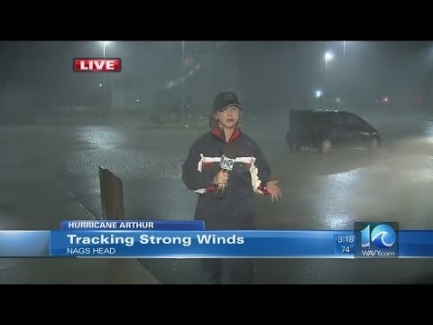 Erin Kelly reports from Nags Head during Hurricane Arthur