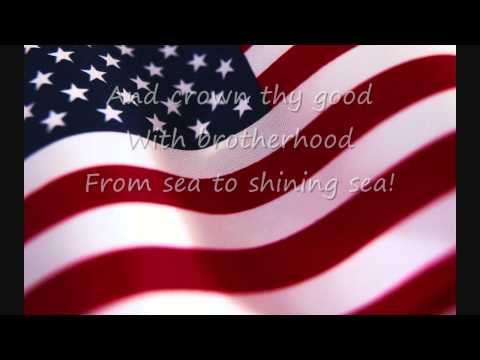 America The Beautiful by Katherine Lee Bates arr. by Buryl Red