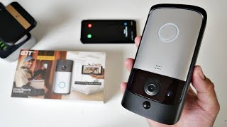 GJT Smart Wireless Video Doorbell + Chime - PIR Motion - IR Night Vision