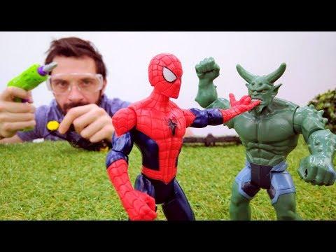 Человек Паук и крылья. Видео для детей про супергероев.