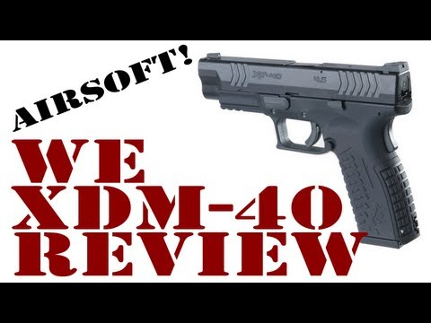 WE XDM-40 Gas Blowback Airsoft Pistol Review by crazyNCman