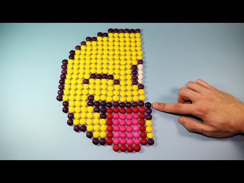 Smiley Face Made of Candies How To DIY Video for Kids