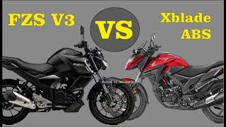 Yamaha FZS V3.0 vs Honda Xblade 160 ABS Which is Best In Price Mileage All Features