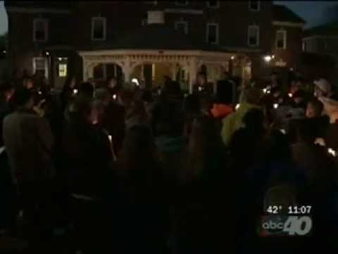 Western New England University Holds Candlelight Vigil for Boston Bombings