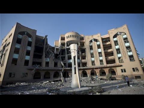 Israeli Airstrikes Target Gaza's Islamic University
