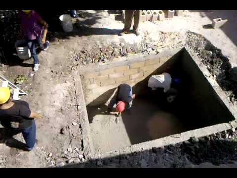 Building the septic tank youtube for How to build a septic tank