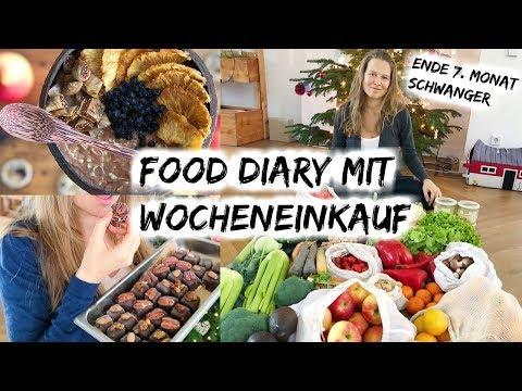 FOOD DIARY 3. TRIMESTER SCHWANGER & WOCHENEINKAUF