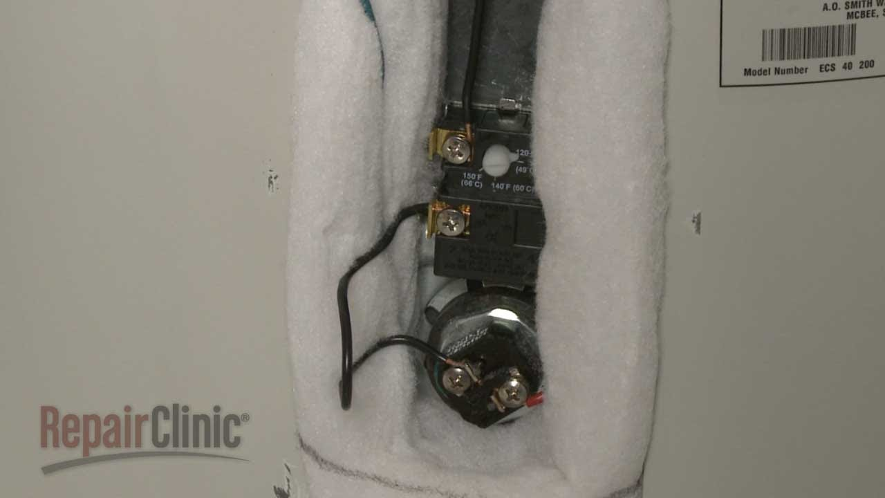 Ao Smith Electric Water Heater Wiring Diagram : Water heater thermostat replacement ao smith electric