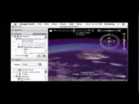 NASA Google Earth 4D ionosphere  tool