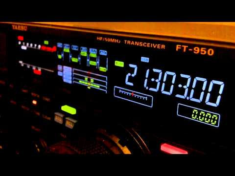 Ham Radio DX QSO JO7CVU Yaesu FT-950