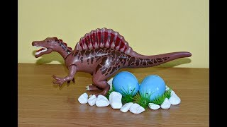 T Rex Try To Steal Dinosaurs Eggs. Dinosaurs Toys For Kids