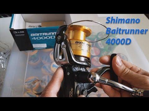 New Shimano Baitrunner 4000D spinning reel review