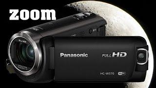 Panasonic HCW570 HD Camcorder 90x Zoom Test withou