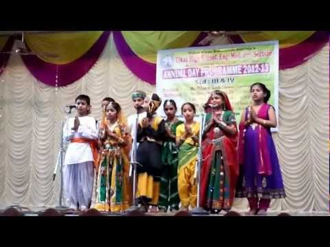 Teri Panah Mein And Swagat Geet By Sagar Shinde And Team - Vikas High School video